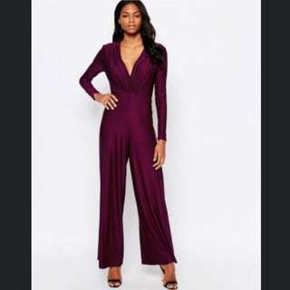 AX Paris Wide Leg Jumpsuit Sz 8