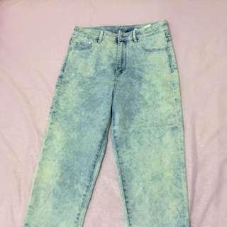 H&m Acid Wash High Waisted Jeans