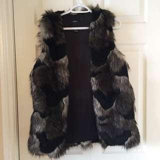 Multicoloured Faux Fur Vest