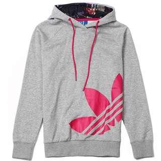 Adidas愛迪達三葉草 女生連帽長袖Tshirt(保證正品)
