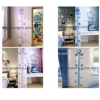 EVA EVA SHOP 寶寶房創意布置身高3D壓克力造型牆壁貼