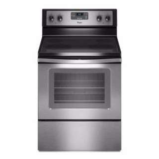 Whirlpool® 4.8 cu. ft. Capacity Electric Range with Self-Cleaning System and Whirlpool® 1.7 cu. ft. Microwave Hood Combination with 2-Speed Fan