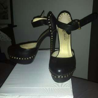 Studded Leather Platforms Size 8