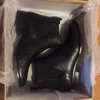 Michael Kors Black Leather Thea Booties