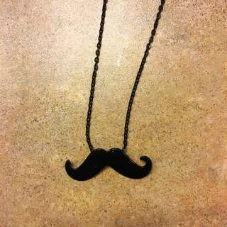 Claire's Mustache Necklace
