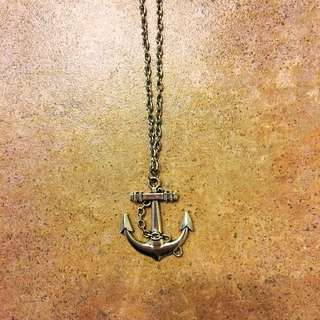 Metal Anchor Necklace