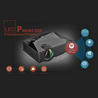 LED HD Wifi Home Projector WIFI Display Miracast