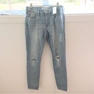 Ripped Abercrombie jeans