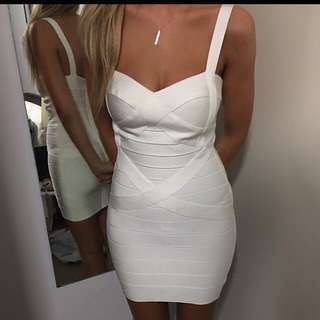 Lady Luxe Boutique 'Chloe' Bandage Dress In White Size Small