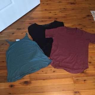 3 Silent Theory Tshirt/ Singlets