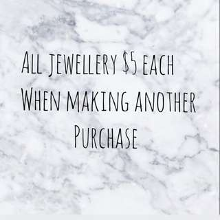 All Jewellery $5 With Any Other Purchase