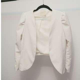 Elegant White Jacket (Urban Outfitters-Sparkle)