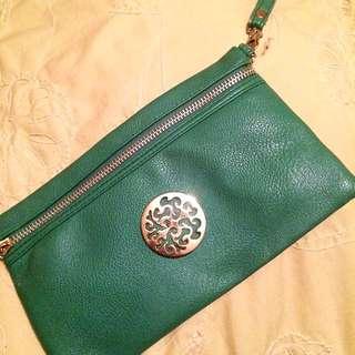 Large Green Wristlet!