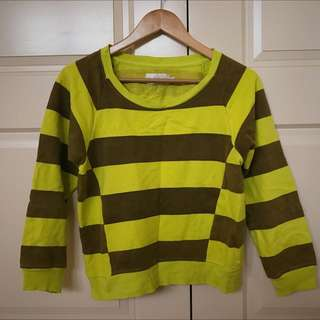 Shakuhachi Yellow Stripped Jumper