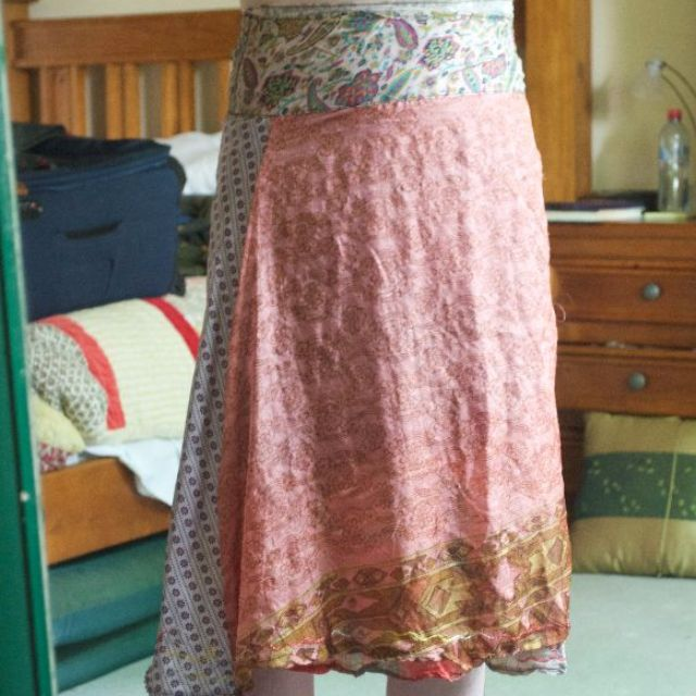 100% silk Tree of life skirt