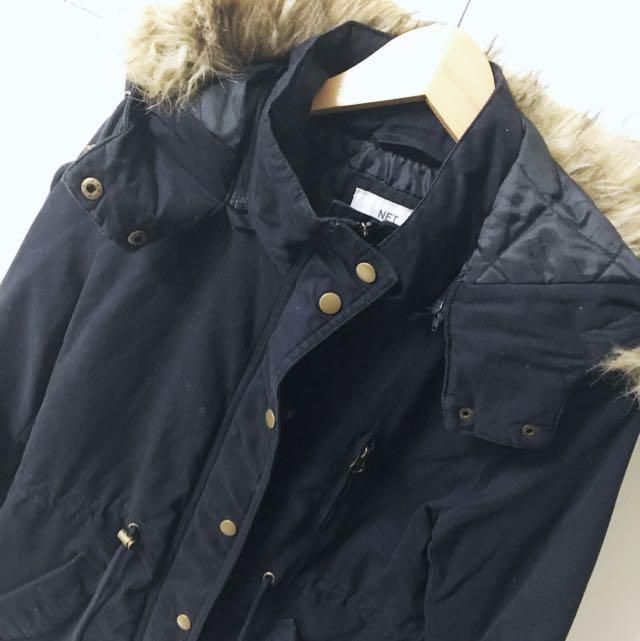 Net 軍裝 鋪棉 保暖 大衣 外套