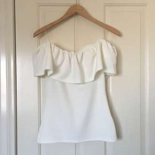 Seed Heritage Off The Shoulder White Top XS