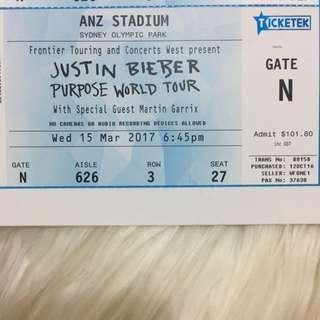 Justin Bieber World Purpose Tour Tickets