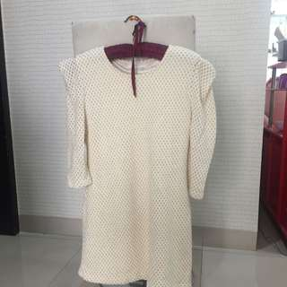 Beige gold top size S