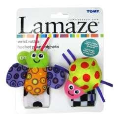 外貿原單lamaze熱銷不敗款可愛立體瓢蟲蜜蜂立體造型寶寶手腕帶響鈴布玩
