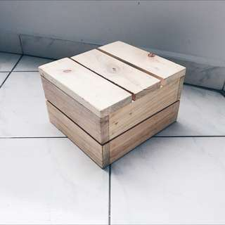 Dessert Table Props - Square Wooden Crate