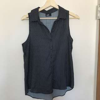 Dotti Size 8 Striped Top