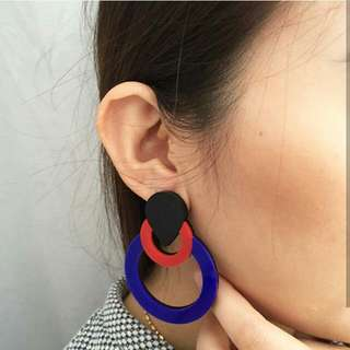 Round Acrylic Earring