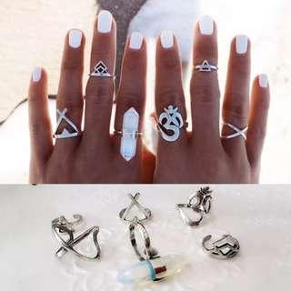 6 Knuckle Ring Set