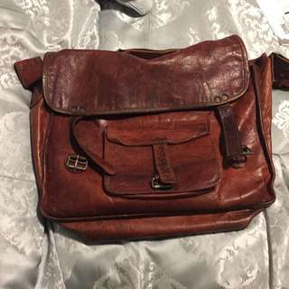 100% Authentic Leather Book Bag