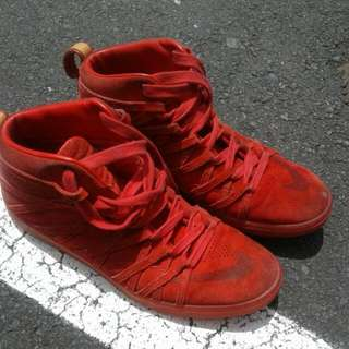 Nike Red Hi-top Bball Boots Size UK 10.