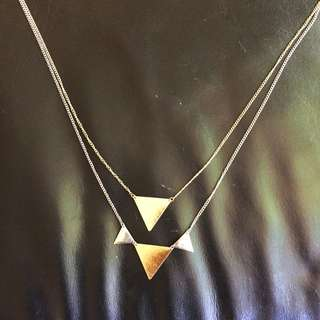 Gold And Silver Stylish Necklace