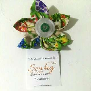 FOR CHARITY Floral Badge