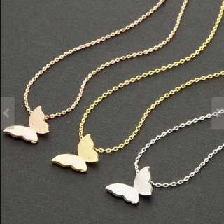Korea Gold Butterfly Necklace