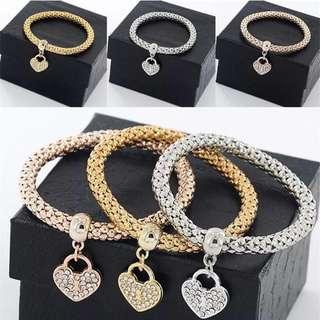 Twist Chain Charm Bracelet