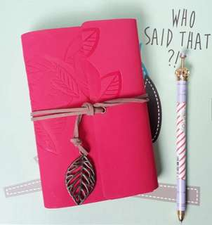 Notebook with Leather Cover