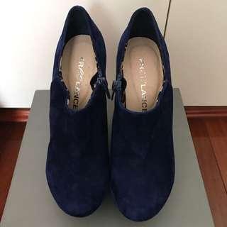 Freelance Blue Suede Wedges Size 35