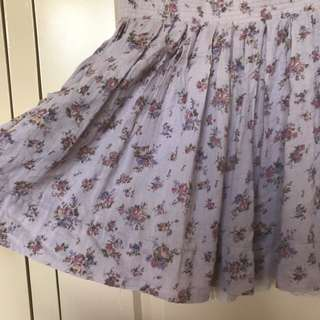 Minkpink Purple Floral Mini Skater Skirt