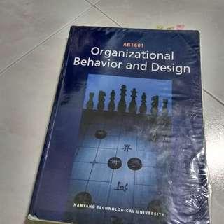 AB1601 Organisational Behaviour and Design