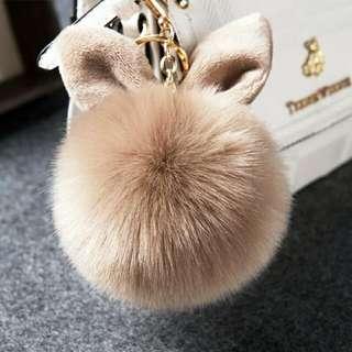 毛绒球 兔耳朵毛毛
