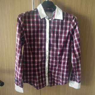 Zara Checkered Shirt Size M