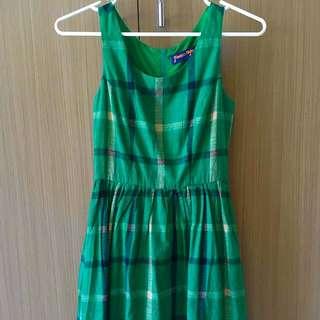 BNWOT Princess Highway Green Checked Tea Dress