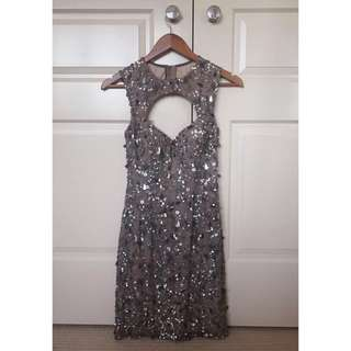 Scala Sequin & Silk Evening/Formal Dress