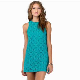 👗SALE 👗 TOBI Teal Lace Shift Dress