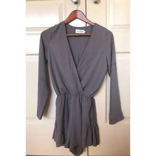 Crossover Long Sleeve Playsuit