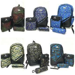 Samsonite Backpack Set 3in1 w/ Laptop Slot Inside