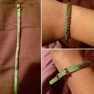 REAL Genuine FOSSIL green/blue bracelet