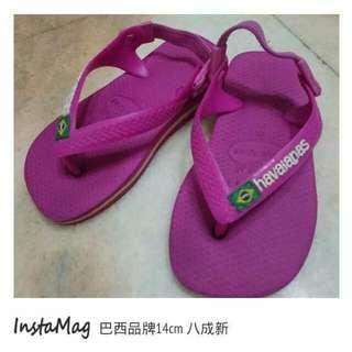 二手8成新14cm巴西品牌拖鞋