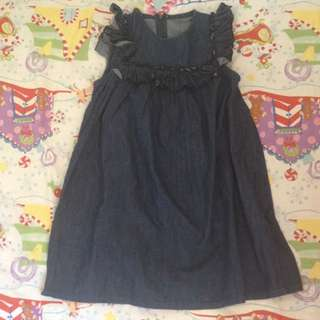 Dress Denim Anak 5-6thn