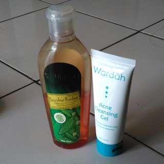Wardah Acne Cleansing Gel & Mustika Ratu Penyubur Rambut
