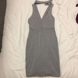 Grey mini Dress - Size 6